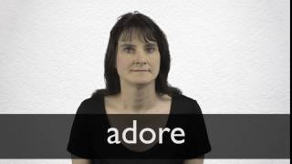 How to pronounce ADORE in British English thumbnail