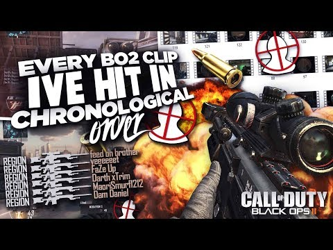 Every BO2 Clip I've Ever Hit, In Chronological Order | @PzRegion