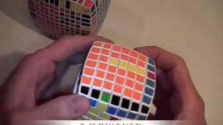 Как собрать куб 11х11 ч.3/6 / How to solve cube 11x11 part 3/6