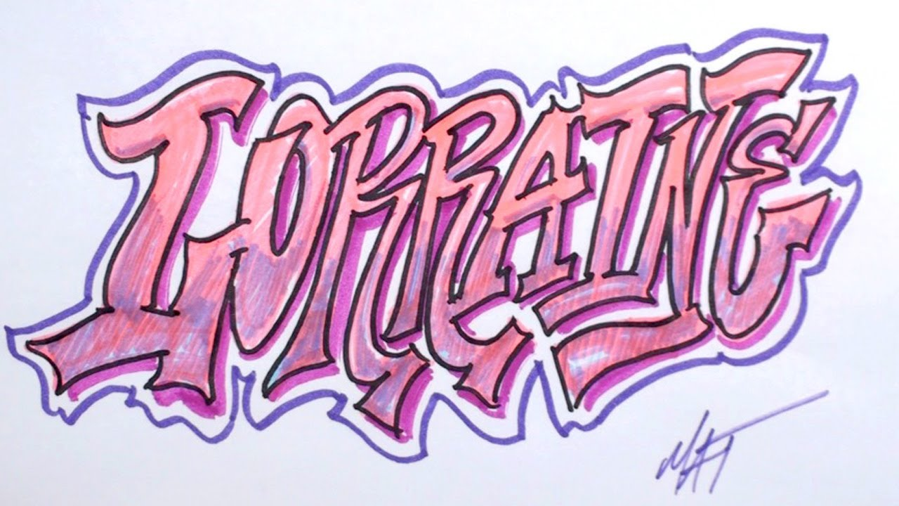 Draw Graffiti Letters My Name