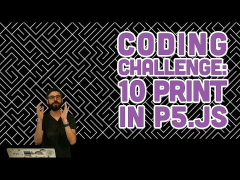Coding Challenge #76: 10PRINT in p5.js