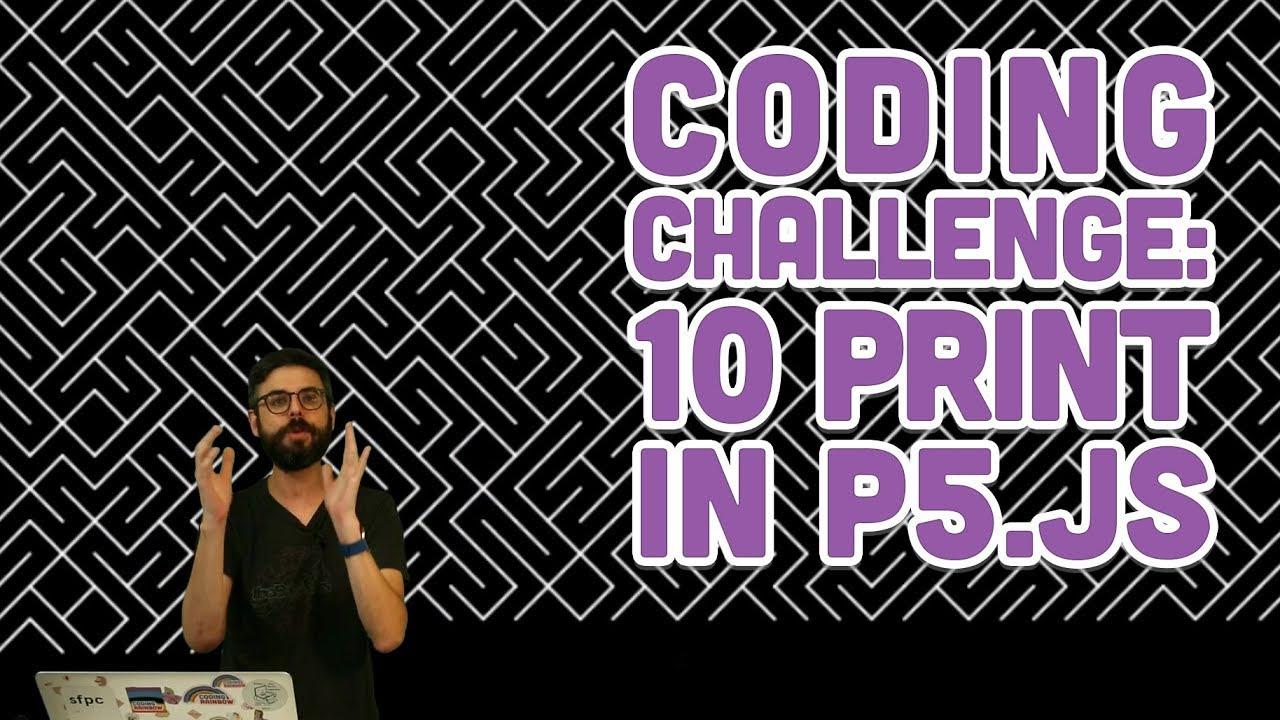Coding Challenge #76: 10PRINT in p5.js