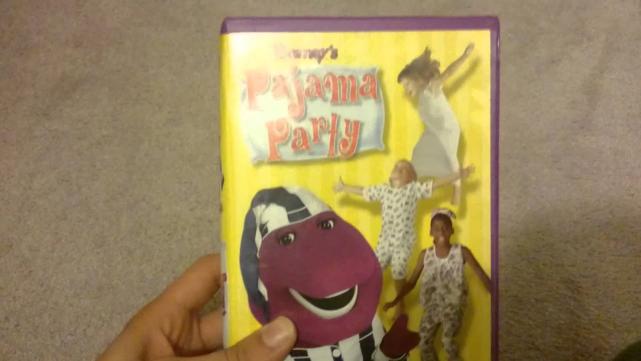 Barney' Pajama Party 2001 Vhs