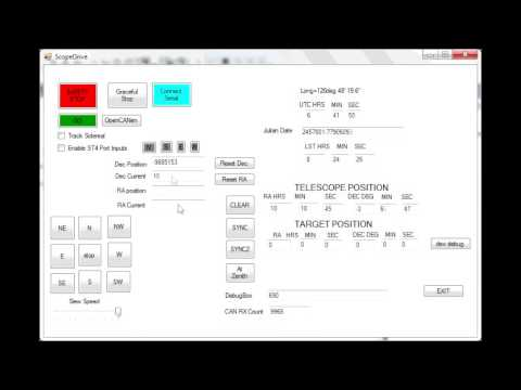 Custom mount motion control and software - CAN bus