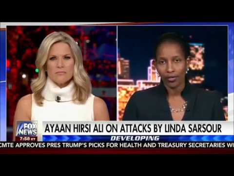 Pro Sharia, misognystic Islam apologist Linda Sarsour exposed by REAL feminist Ayaan Hirsi Ali