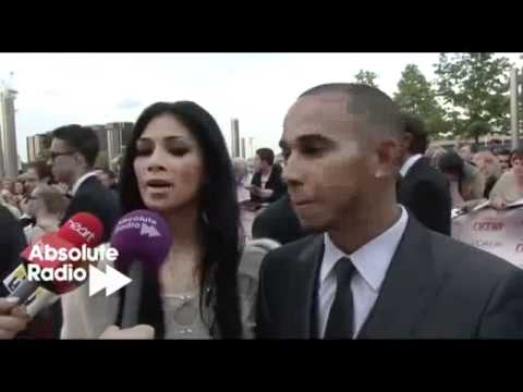 Nicole Scherzinger and Lewis Hamilton interview at the National Movie Awards 2011