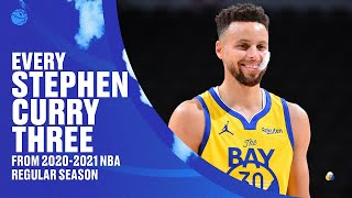 ALL 337 of Stephen Curry's 3-Pointers From 2020-21 NBA Regular Season