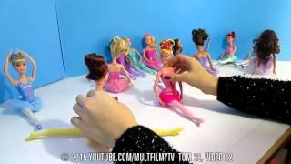 Принцессы Диснея Куклы Барби Игры видео мультик �
