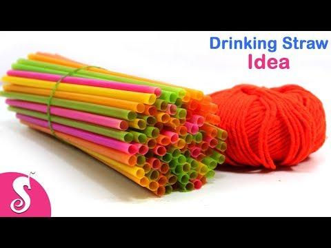 Drinking Straw Upcycle Idea  Make Amazing Ceiling