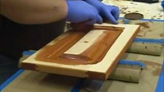 Staining Cabinets - Custom Bathroom Vanities - Part 8 Of 11