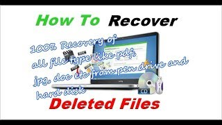 Recover your deleted files from hard disk, sd card or pen drive