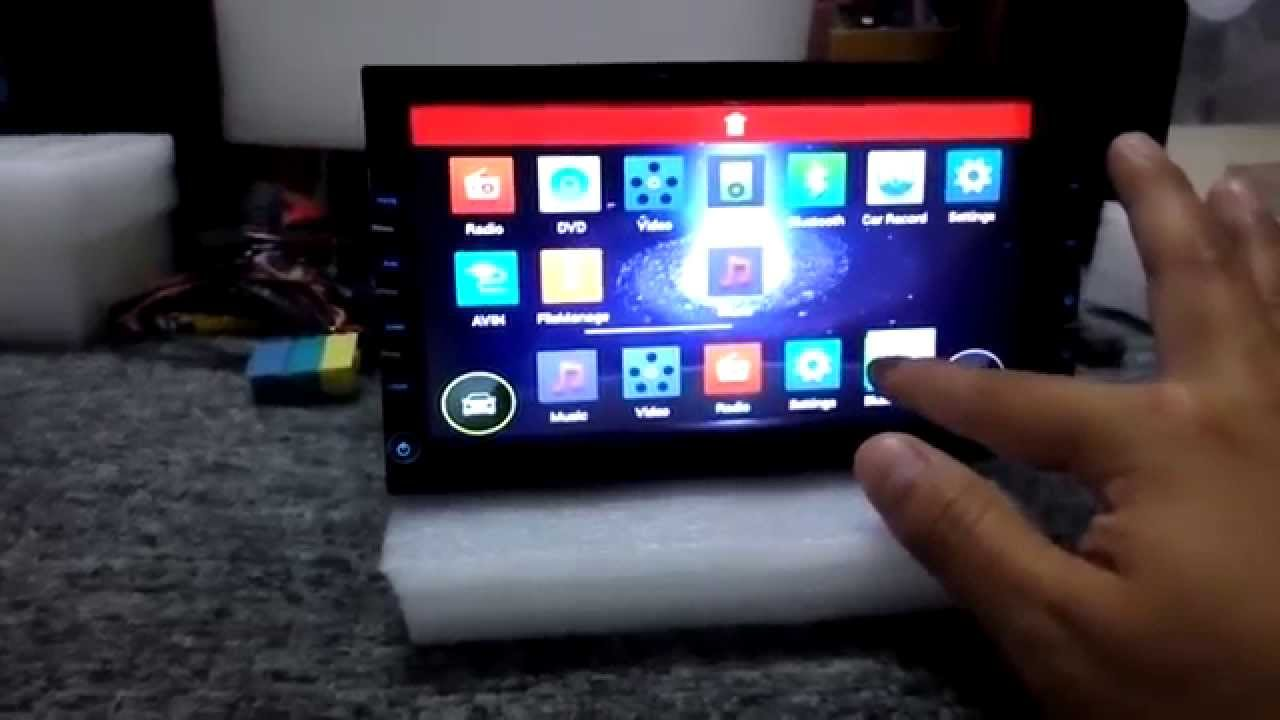 Android 44 KitKat 2 DIN Car DVD Player Dual core 16GHz