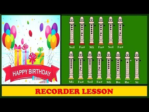Happy Birthday to you | Recorder Notes Tutorial ♪♪♪