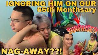 IGNORING MY BOYFRIEND PRANK ON OUR 65th MONTHSARY | NAG AWAY!! BAT NGAYON? | LAUGH TRIP | GAY COUPLE