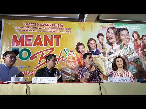 """Live: """"Meant To Beh""""  Media Conference with Vic Sotto, Dawn Zulueta, and JC Santos"""