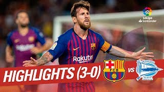 Resumen de FC Barcelona vs Deportivo Alavés (3-0)