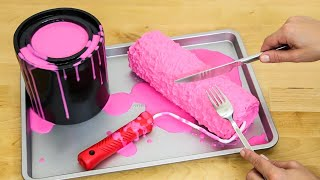 Would You EAT This? 3D Paint Roller Cake by Cakes StepbyStep