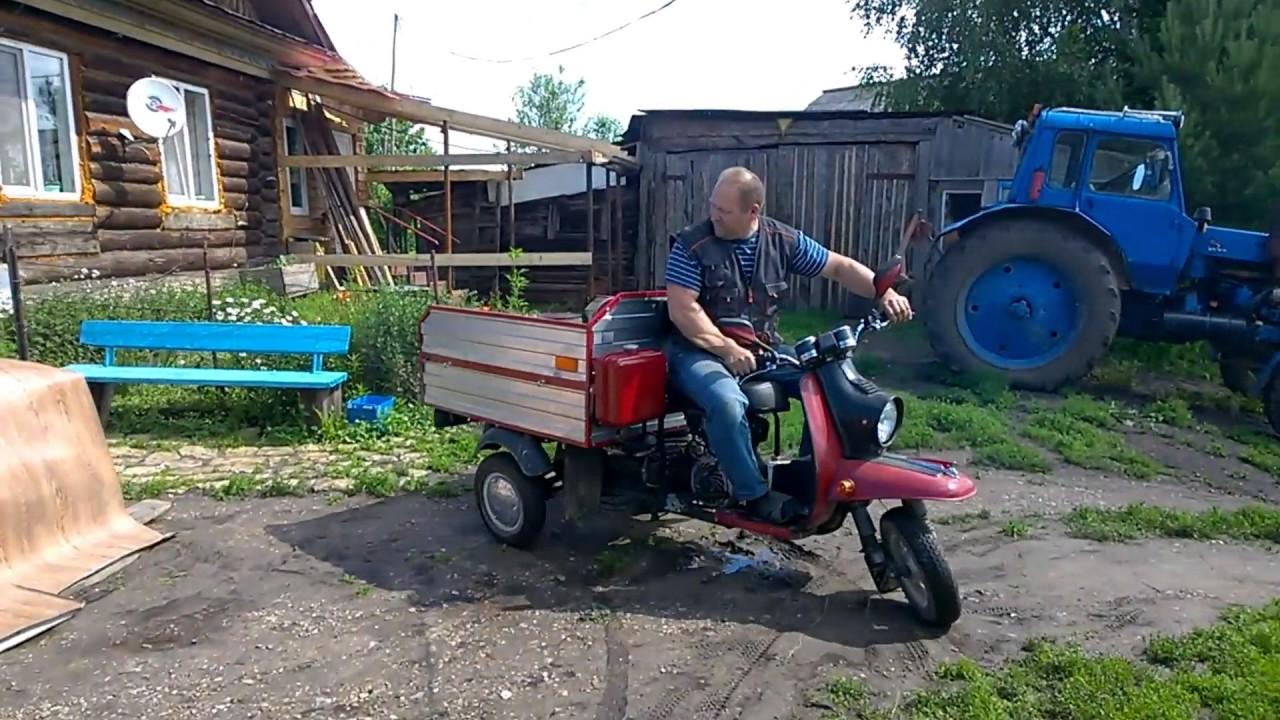 Мотороллер МУРАВЕЙ с карбюратором от бензопилы УРАЛ