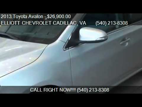 2013 Toyota Avalon XLE For Sale In Staunton, VA 24401 At The. Elliott  Chevrolet Cadillac