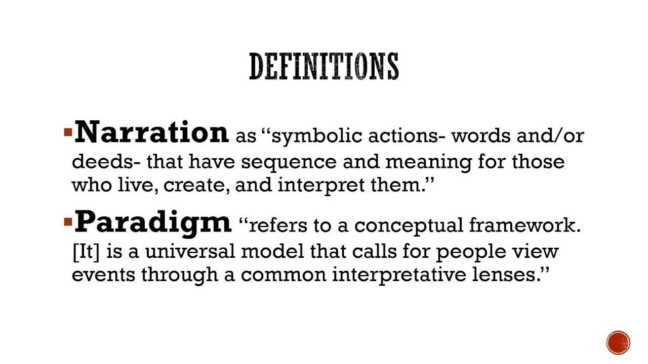 narrative paradigm theory