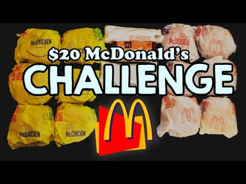 MCDONALD'S $20 VALUE MENU CHALLENGE!!