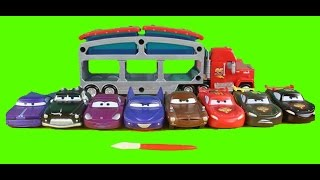 Disney Pixar Cars Color Changers Lightning McQueen Mack Dip & Dunk Trailer Sheriff Sally Ramone