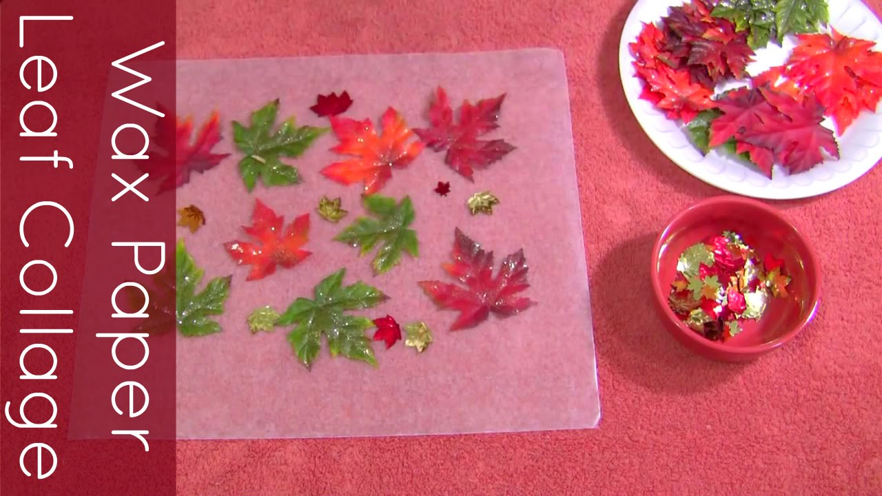 Wax Paper Leaf Collage Craft For Preschool And Kindergarten Youtube