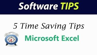 5 Time saving tips for Excel