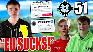 "Yung Calc GOES OFF On EU & Benjyfishy ""THEY SUCK"" 51 Kill PRO FNCS by Benjyfishy! $5000 ZexRow Bet!"