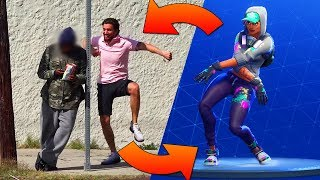 "HILARIOUS EPIC ""Fortnite Dance Challenge"" IN REAL LIFE! **Fortnite Funny Moments** 