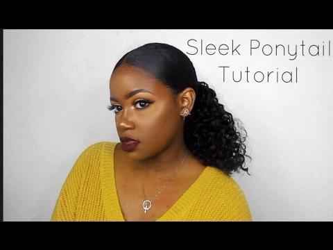 Sleek Curly Ponytail