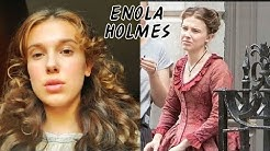 Millie Bobby Brown in production recording ENOLA HOLMES