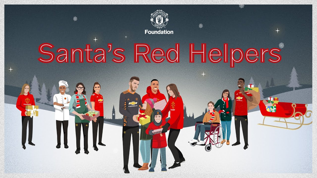 Santa's Red Helpers - Manchester United Foundation fundraising appeal to support vulnerable children