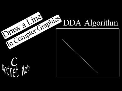 C graphics program to draw a line.