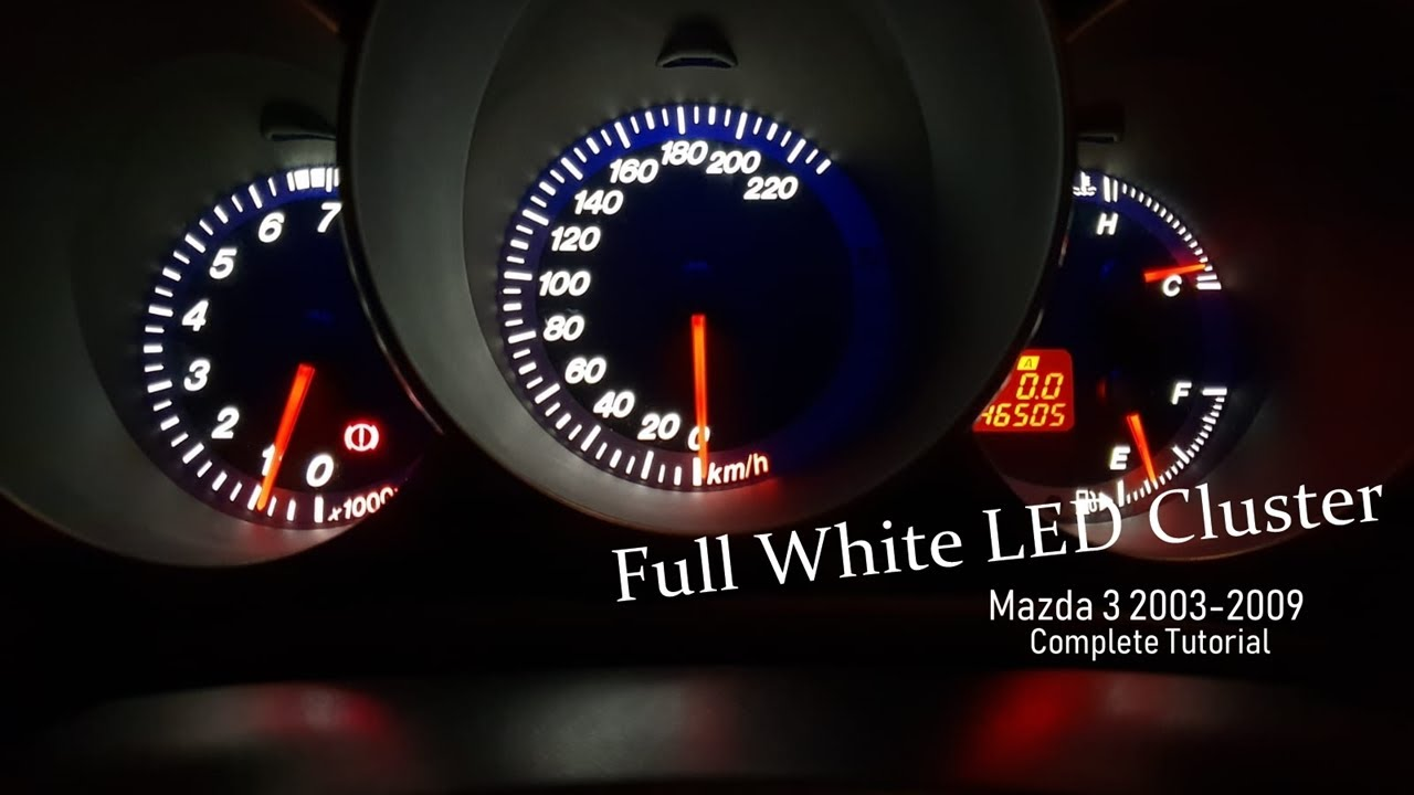 Mazda 3 Led Lights Plcc Smd Dashboard Replacement Tutorial