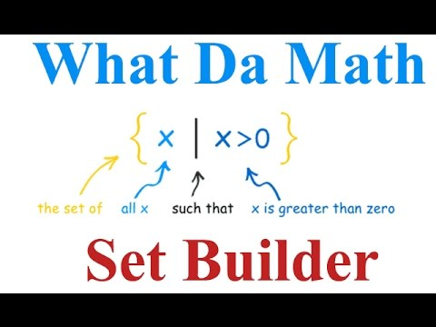 Chapter 7 - Set Builder Notation - IB Math Studies (Math SL)