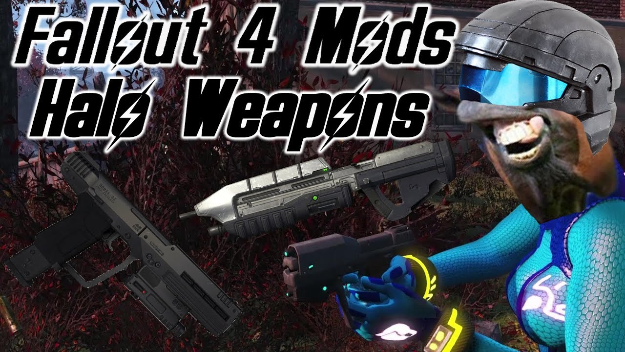 Fallout 4 Mods MA5 Rifle and M6 PDWS Magnum from Halo
