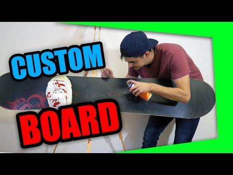 Custom Graffiti Snowboard