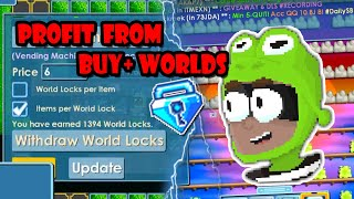 How Much Profit Do Buy+ Worlds Make? | Growtopia
