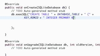 Android Application Development Tutorial - 114 - Creating SQLite Database
