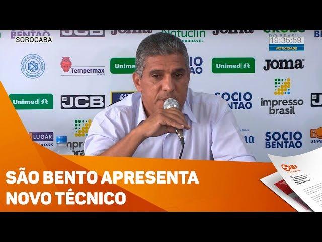 São Bento apresenta novo técnico - TV SOROCABA/SBT