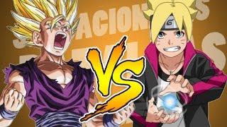 GOHAN VS. BORUTO || BATALLA DE RAP || NARUTO VS DRAGON BALL || MCPLAY