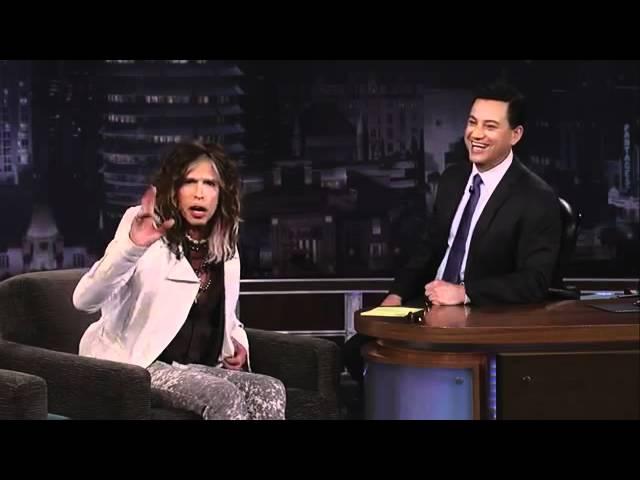 Steven Tyler on Jimmy Kimmel Live PART 1