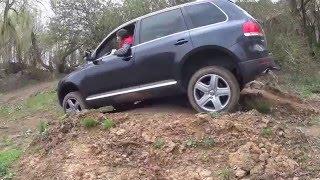 VW Touareg V10 TDI offroad vs Mitsubishi Pajero//sanram von west