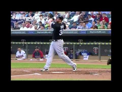 Adam Dunn Slow Motion Baseball Swing Hitting Mechanics Instruction Chicago White Sox MLB