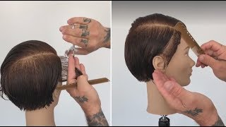 How to cut a Short Layers Haircut for women  Haircut Tutorial Step by Step
