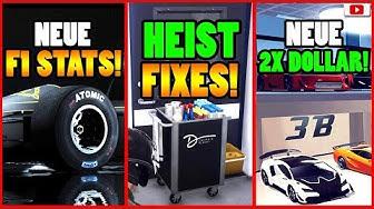 🙌Alle Neuen Inhalte!🙌 F1 STATS! HEIST Fixes! 2X GELD + Mehr! [GTA 5 Online Casino Heist Update]
