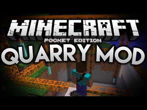 MASSIVE QUARRIES!!! - Better Quarry Mod - Minecraft Pocket Edition