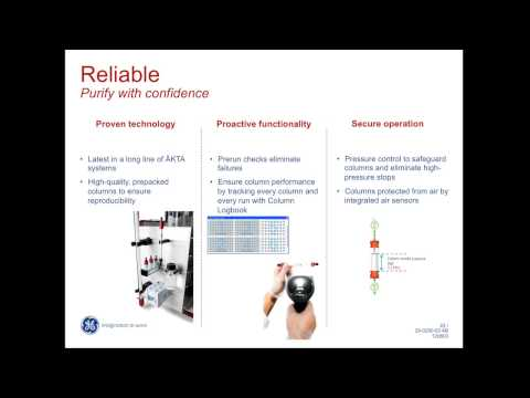 """AKTA pure, Protein purification your way"" - April Scharfstein, GE Healthcare Lifesciences"