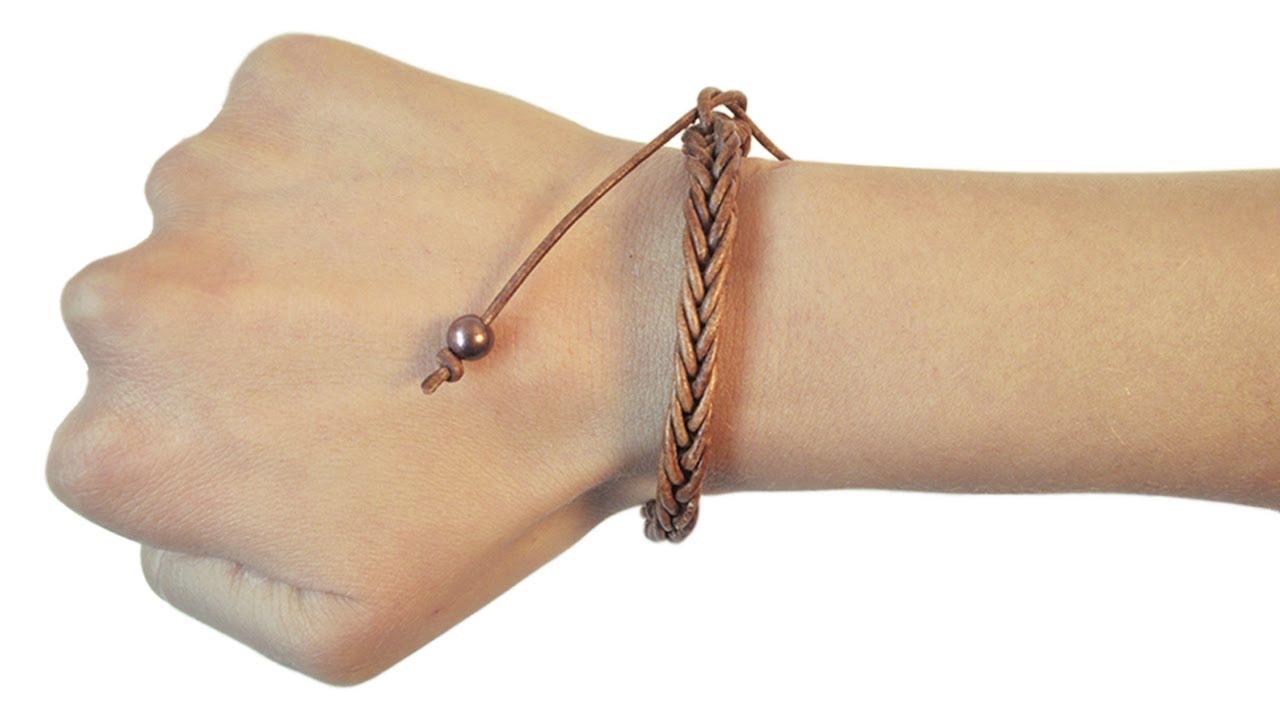Amato Loom bands EVO - V tutorial braccialetto cordino in cuoio naturale  AF53